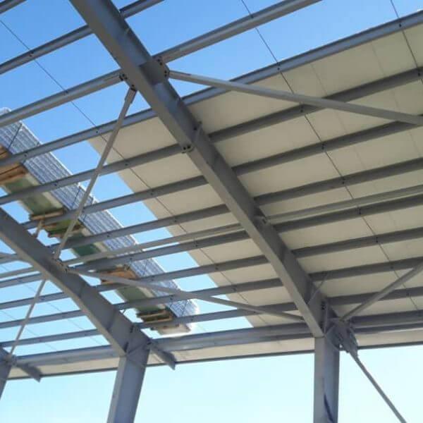 نصب ساندویچ پانل سقفی سوله شرکت مادیران