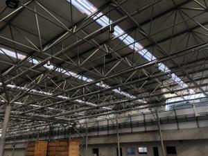 نمایی از سقف سوله شرکت ترام چاپ ، View of the roof of the printing house of the tram printing company