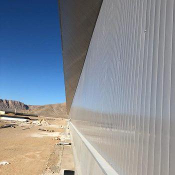 نمایی از ساندویچ پانل دیواری انبار شرکت ترام چاپ ، View of the wall panel sandwich panel of Tram Printing Company