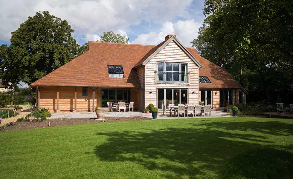 خانه ساخته شده قاب و ساندویچ پانل روکش شده با چوب بلوط