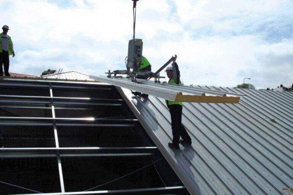 نصب انواع ساندویچ پانل های سقفی ، Installation of various types of roof sandwich panels