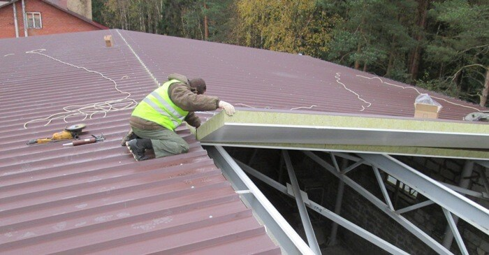 مراحل نصب ساندویچ پانل سقفی ،Steps of installing roof sandwich panels